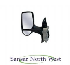 Ford Transit  - Passenger Electric Door Mirror Black Cover Short Arm 2000-2014